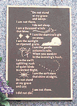 A beautifully engraved sentiment greets visitors to the cemetery - click to enlarge